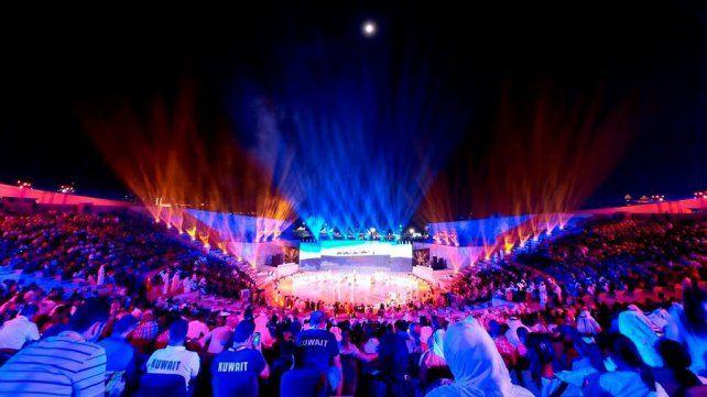 La ceremonia inaugural de las primero juegos mundiales de playa.