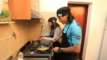 Falcón y Di Maggio: atletas y cocineros