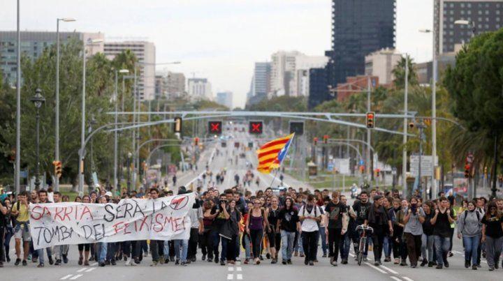 Huelga, disturbios y caos en Barcelona