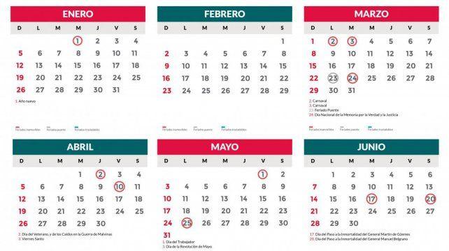 El Gobierno anunció los feriados puente para el 2020