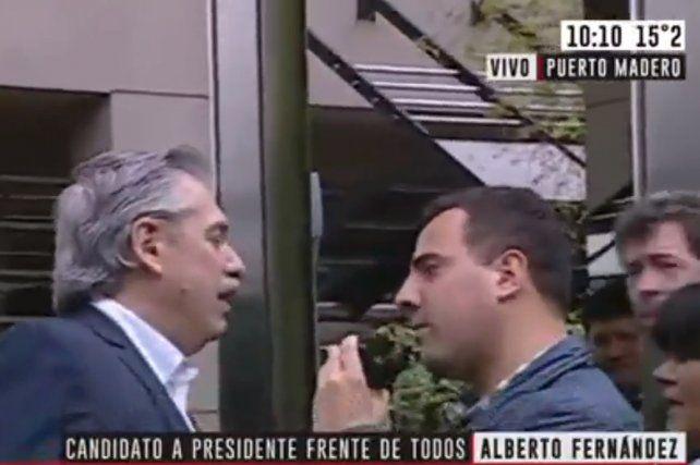 Alberto se enojó con un periodista y lo mandó a trabajar