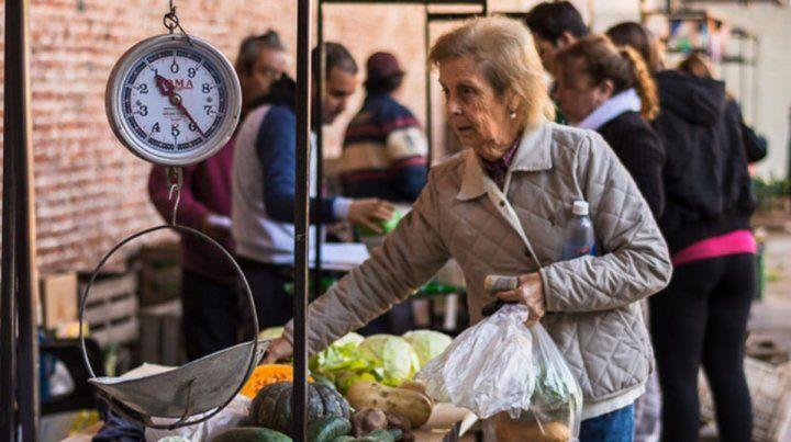 Verduras frescas en el Mercado Progreso