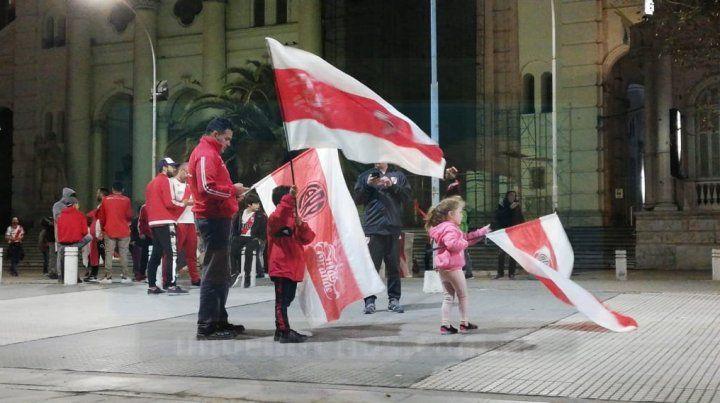 Hinchas de River festejaron en Paraná