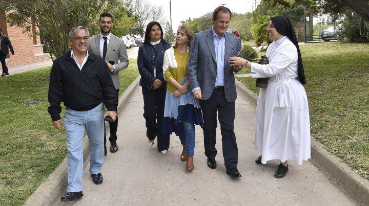 Bordet visitó la Congregación Siervas de la Divina Providencia