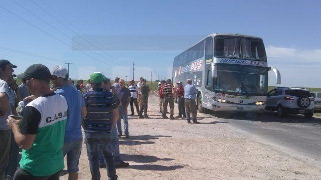 Productores agropecuarios reclamaron en la ruta