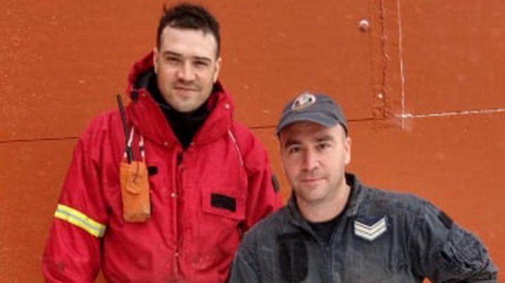 De paraná a la Antártida. Fabricio Farías junto a Ismael Vargas forman parte de la Dotación 50ª.