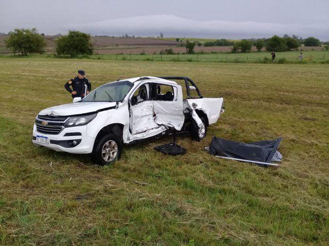 Murieron dos de los cuatro ocupantes de la camioneta
