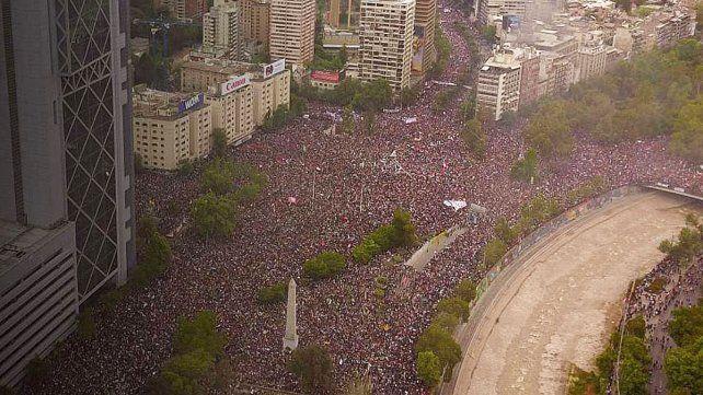 La masiva movilización del pueblo chileno