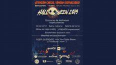 festejo de halloween y concurso de disfraces