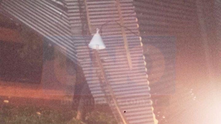 El temporal en La Paz provocó la voladura de un techo.