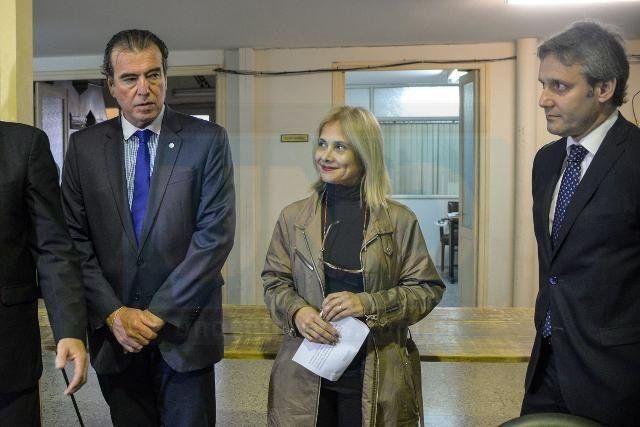Autoridades. Miembros del Poder Judicial provincial y Federal presidieron el acto. Foto: Mateo Oviedo