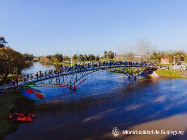 El parque es ideal para la practica de los deportes náuticos.