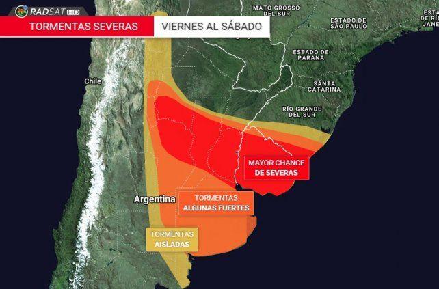 Pronostican tormentas severas para Entre Ríos