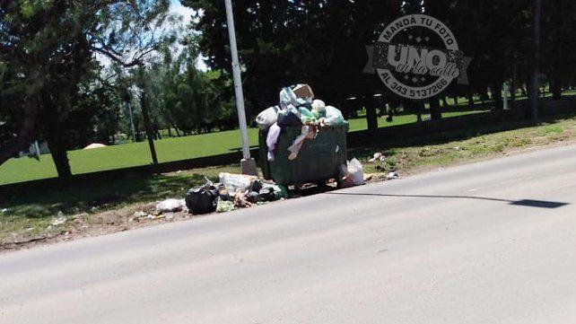 En calle Miguel David y ruta 12 no pasa el basurero hace dos semanas y media.