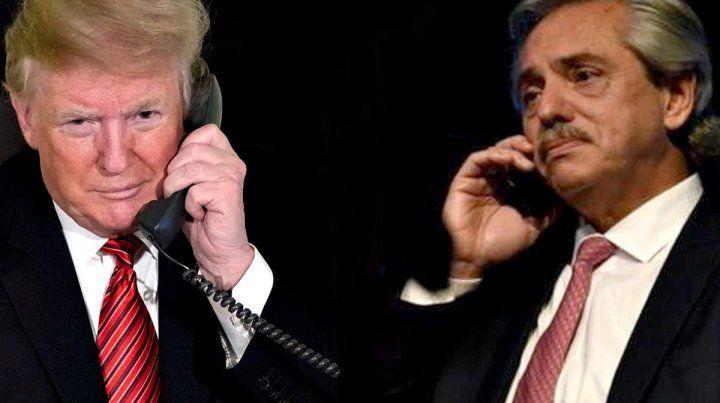 Comunicación. Trump y Fernández mantuvieron un diálogo telefónico de 15 minutos