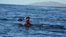 el concordiense que unio a nado las islas malvinas