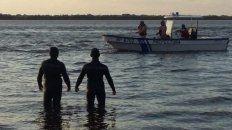 Una imagen de la búsqueda en el río Paraná.