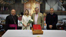 Religiosidad. Fernández estuvo en la Basílica de Guadalupe junto a Fabiola Yañez y Felipe Solá.