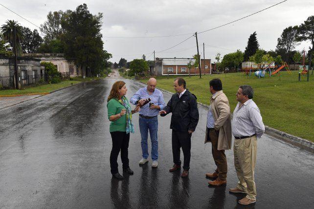 La provincia ejecuta obras en los accesos a pueblos sobre la ruta 11