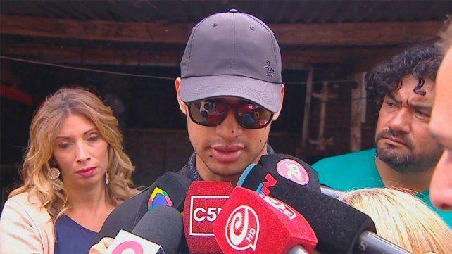 El jugador habló a la salida de la clínica donde estaba internado desde ayer.