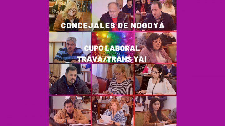 Reiteran reclamo por cupo laboral travesti y trans en Nogoyá