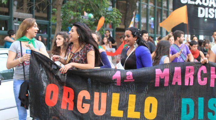 Una imagen de la II Marcha en Paraná.