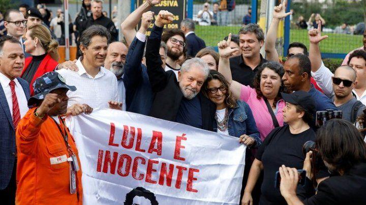 Tras 19 meses de prisión, Lula quedó en libertad