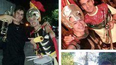 Lucas disfruta el espíritu del carnaval.