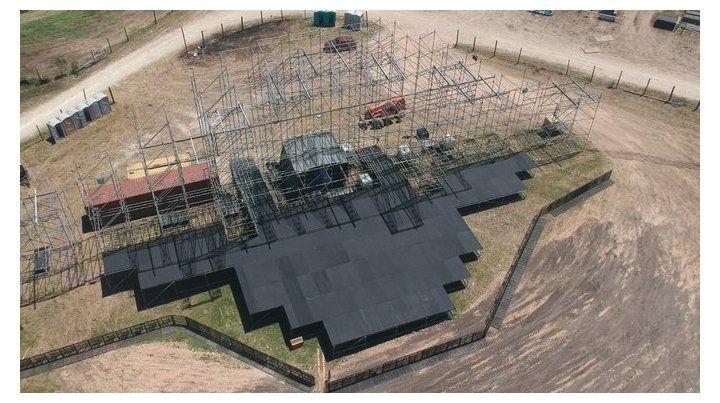 A seis días así se ve el escenario de la FDD desde el aire.