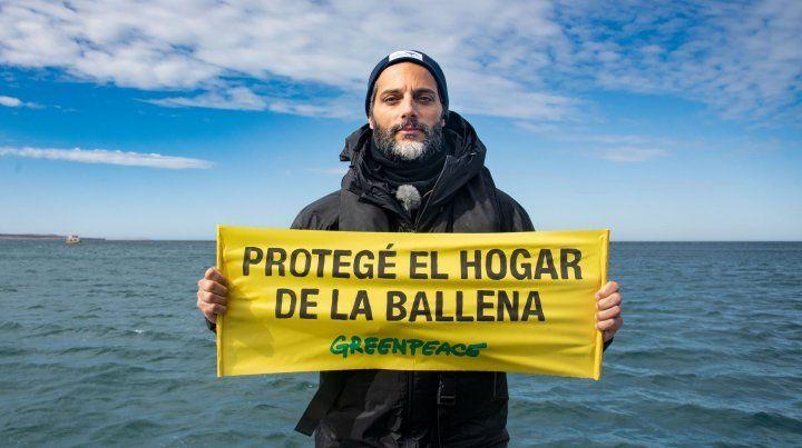 Joaquín Furriel, en campaña para defender el Mar Argentino
