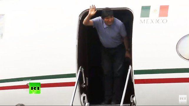 Evo Morales llegó a México en asilo político