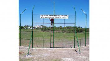 Detalles finales. El nuevo reducto llevará el nombre de Campeones del Mundo 2019. Practican dos clubes en ese lugar de la localidad entrerriana.