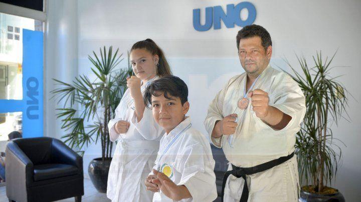 Los representantes de Paraná se subieron al podio