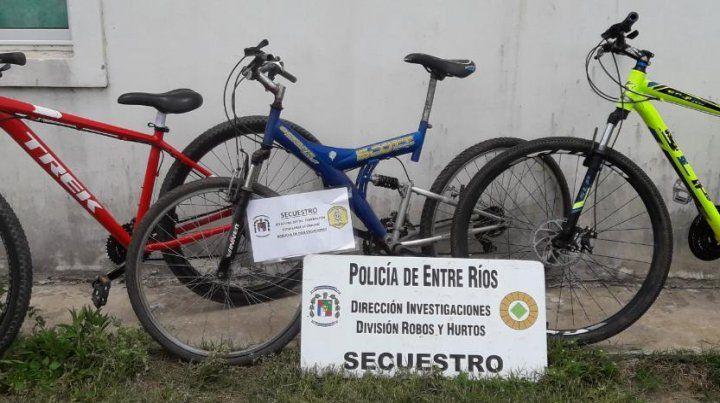 Robaban bicicletas de alta gama en Santa Fe y las llevaban a Chajarí