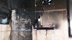 incendio en la cocina de una escuela de anacleto