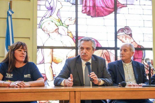 La promesa de Fernández hacia los movimientos sociales