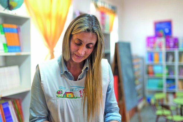 Laura es admirada por los niños por su esfuerzo.