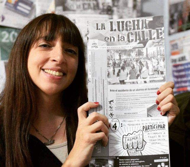 Virginia Serotkin es coeditora del boletín La Lucha en la Calle, una publicación de Agmer.