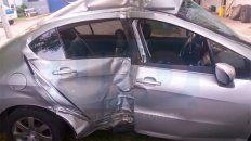 el intendente de viale choco su auto contra un arbol