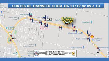 parana se disfraza: detalles del operativo vial y de seguridad