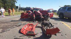 en la ruta mas peligrosa hubo un triple choque con varios lesionados