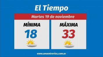 Pronostican máximas de 35 grados para esta semana