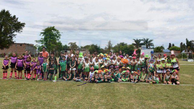 Imágenes del 2° encuentro infantil de hockey sobre césped en Los Ángeles Custodios