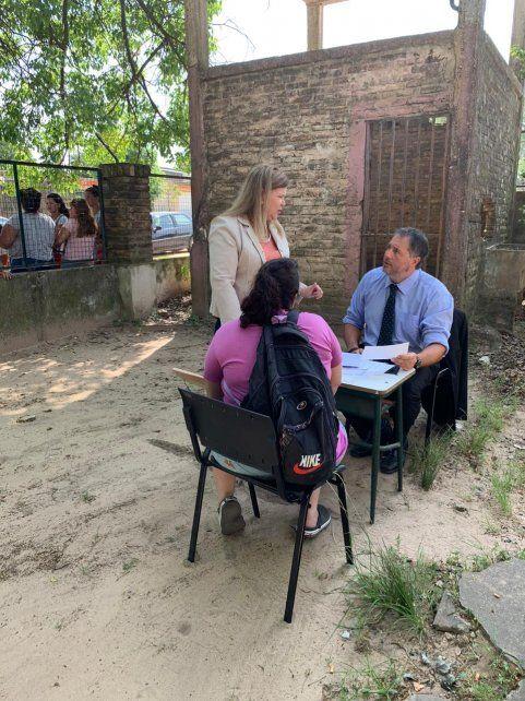 Autoridades judiciales en barrios de Concordia