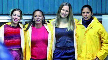 cuatro mujeres limpiaron el tunel subfluvial