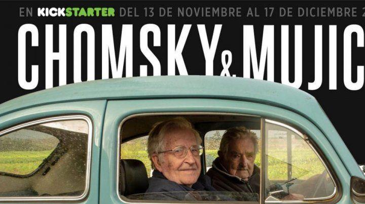 Grabaron un documental que reúne a Chomsky con el uruguayo Pepe Mujica