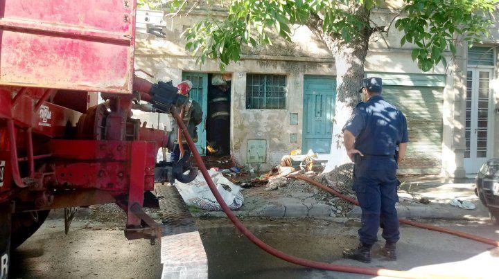 Principio de incendio en calle Sebastián Vásquez