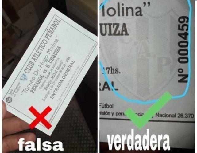 Detenido por vender entradas truchas para la final Peña vs Sportivo