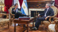 Balance y consultas. Massa se reunió con el presidente saliente, Monzó.