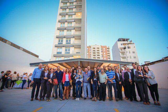La foto grupal de la inauguración.